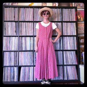 vintage LizSport jumper calico 90s floral dress S